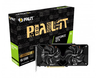 Видеокарта Palit GeForce GTX 1660 Super GamingPro OC (NE6166SS18J9-1160A)
