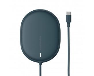 Беспроводное зарядное устройство Baseus Light Magnetic Wireless Charger 15W (suit for IP12 with Type-C cable 1.5m) (WXQJ-03) Blue