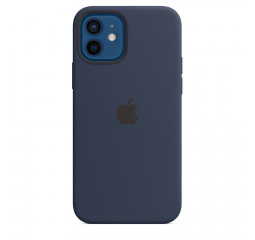 Чехол для Apple iPhone 12 / 12 Pro  Apple Silicone Case with MagSafe Deep Navy (MHL43)