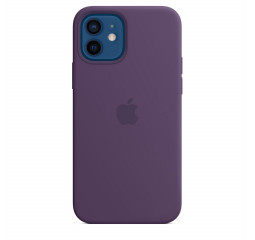 Чехол для Apple iPhone 12 / 12 Pro  Silicone Case with MagSafe and Splash Screen Amethyst
