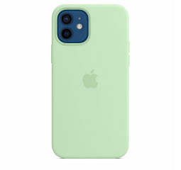 Чехол для Apple iPhone 12 / 12 Pro  Silicone Case with MagSafe and Splash Screen Pistachio