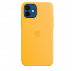 Чехол для Apple iPhone 12 / 12 Pro  Silicone Case with MagSafe and Splash Screen Sunflower