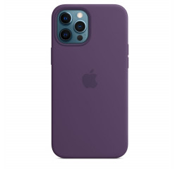 Чехол для Apple iPhone 12 Pro Max  Silicone Case with MagSafe and Splash Screen Amethyst
