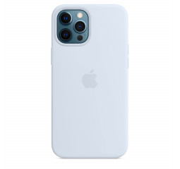 Чехол для Apple iPhone 12 Pro Max  Silicone Case with MagSafe and Splash Screen Cloud Blue