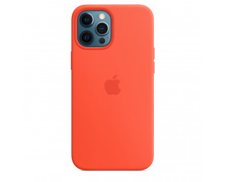 Чехол для Apple iPhone 12 Pro Max  Silicone Case with MagSafe and Splash Screen Electric Orange