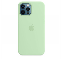 Чехол для Apple iPhone 12 Pro Max  Silicone Case with MagSafe and Splash Screen Pistachio