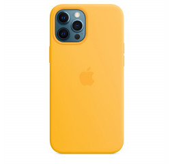 Чехол для Apple iPhone 12 Pro Max  Silicone Case with MagSafe and Splash Screen Sunflower