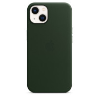 Чехол для Apple iPhone 13  Apple Leather Case with MagSafe Sequoia Green (MM173)