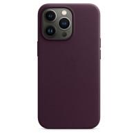 Чехол для Apple iPhone 13 Pro  Apple Leather Case with MagSafe Dark Cherry (MM1A3)