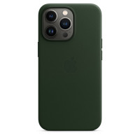 Чехол для Apple iPhone 13 Pro Max  Apple Leather Case with MagSafe Sequoia Green (MM1Q3)