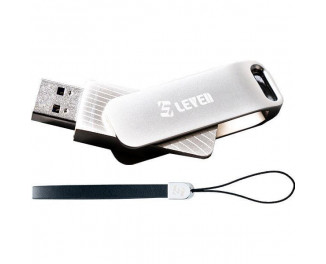 Флешка USB 3.1 128Gb Leven Carousel Line Silver (JUS301SL-128M)