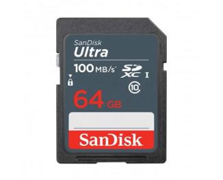 Карта памяти SD 64Gb SanDisk Ultra class 10 UHS-1 (SDSDUNR-064G-GN3IN)