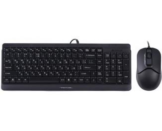 Клавиатура и мышь A4Tech F1512 Black USB