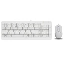 Клавиатура и мышь A4Tech F1512 White USB