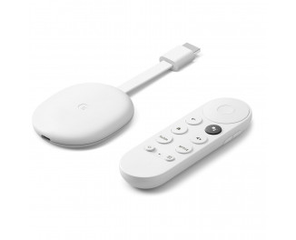 Медиаплеер Google Chromecast 4K with Google TV Snow (GA01919)