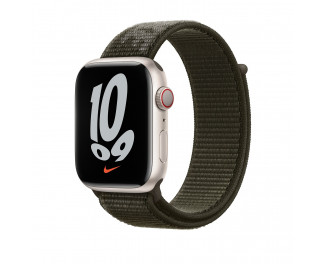 Нейлоновый ремешок для Apple Watch 42/44/45 mm Apple Nike Sport Loop  Cargo Khaki (ML363)
