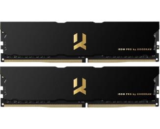 Оперативная память DDR4 32 Gb (3600 MHz) (Kit 16 Gb x 2) GOODRAM Iridium Pro Deep Black (IRP-K3600D4V64L18/32GDC)