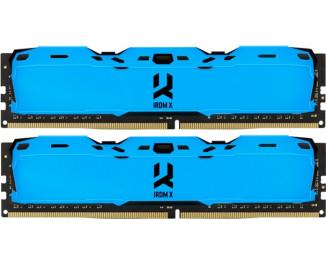 Оперативная память DDR4 8 Gb (3000 MHz) (Kit 4 Gb x 2) GOODRAM IRDM X Blue (IR-XB3000D464L16S/8GDC)