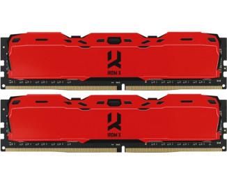 Оперативная память DDR4 8 Gb (3000 MHz) (Kit 4 Gb x 2) GOODRAM IRDM X Red (IR-XR3000D464L16S/8GDC)