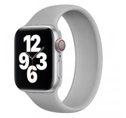Силиконовый монобраслет для Apple Watch 42/44mm Solo Loop Gray (M/160-170mm)