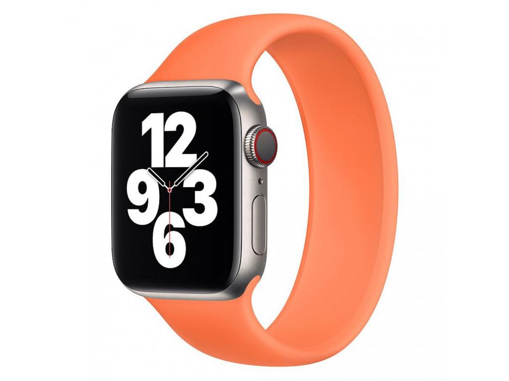 Силиконовый монобраслет для Apple Watch 42/44mm Solo Loop Kumquat (M/160-170mm)