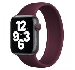 Силиконовый монобраслет для Apple Watch 42/44mm Solo Loop Plum (M/160-170mm)