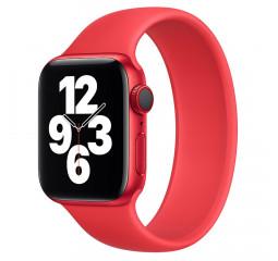 Силиконовый монобраслет для Apple Watch 42/44mm Solo Loop Red (M/160-170mm)