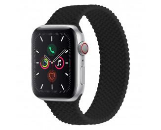 Силиконовый плетёный монобраслет для Apple Watch 42/44mm Braided Solo Loop Black (S/140-150mm)