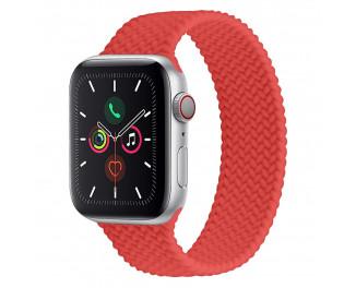 Силиконовый плетёный монобраслет для Apple Watch 42/44mm Braided Solo Loop Red (M/160-170mm)