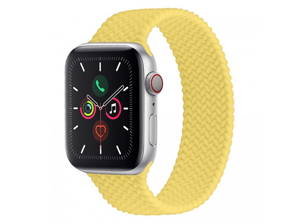 Силиконовый плетёный монобраслет для Apple Watch 42/44mm Braided Solo Loop Sunflower (M/160-170mm)