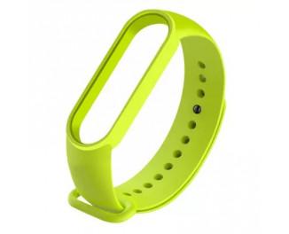 Силиконовый ремешок Xiaomi Mi Band 5/6 Lime green