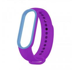 Силиконовый ремешок Xiaomi Mi Band 5/6 Purple/Blue