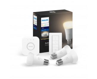 Стартовый комплект PHILIPS Hue White (Bridge, Dimmer, лампа E27 3шт) (929001821620)