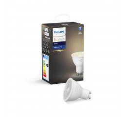 Умная лампа PHILIPS Hue GU10, 5.2W(57Вт), 2700K, White, Bluetooth, диммируемая (929001953505)