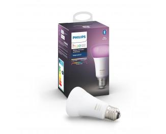 Умная лампа PHILIPS Hue Single Bulb E27, 9W(60Вт), 2000K-6500K, Color, Bluetooth, диммируемая (929002216824)