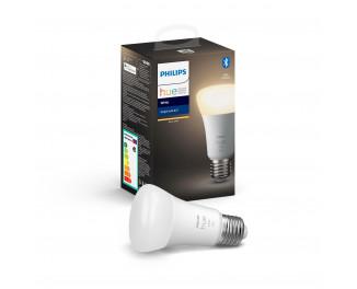 Умная лампа PHILIPS Hue Single Bulb E27, 9W(60Вт), 2700K, White, Bluetooth, диммируемая (929001821618)