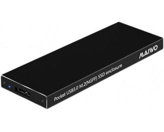Внешний карман Maiwo для M.2 SSD (NGFF) SATA - USB 3.0 (K16NC black)