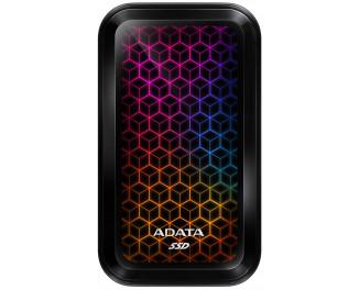 Внешний SSD накопитель 512Gb ADATA SE770G RGB Black (ASE770G-512GU32G2-CBK)