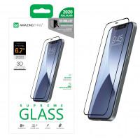 Защитное стекло для Apple iPhone 12 Pro Max  AMAZINGThing 3D Silicone Edge Glass