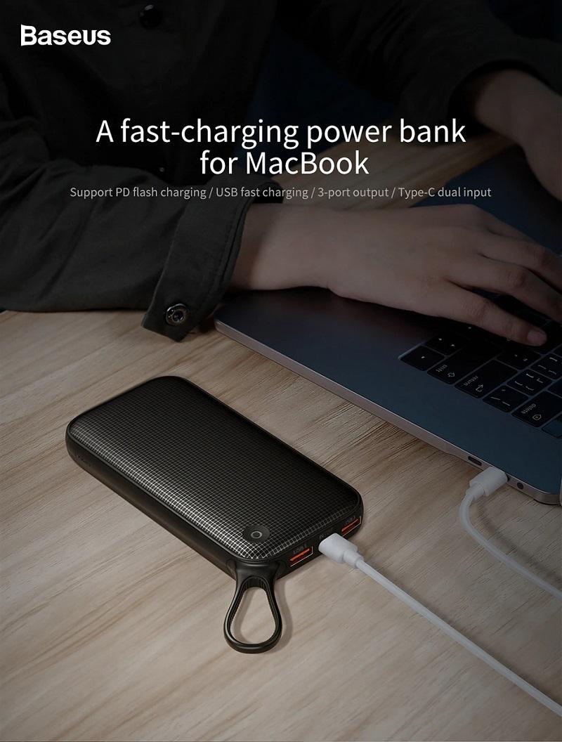 Купить в магазине Портативный аккумулятор Baseus Powerful Type-C ...