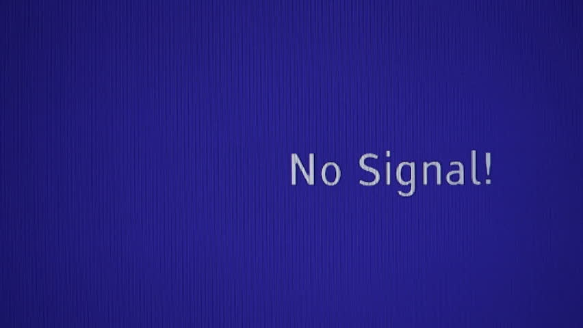 Нет сигнала на мониторе компьютера