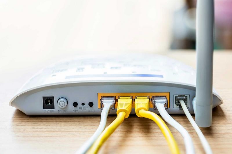 Подключенный к интернету роутер